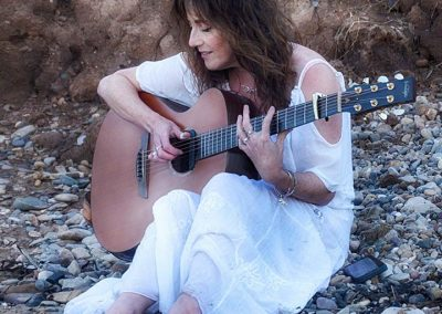 Carrie Martin Singer Songwriter on Filey Beach